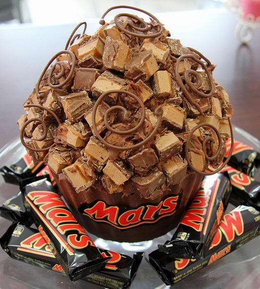 Mars Bar Giant Cupcake