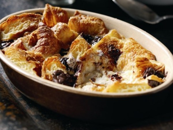 After Eight butter croissant pudding