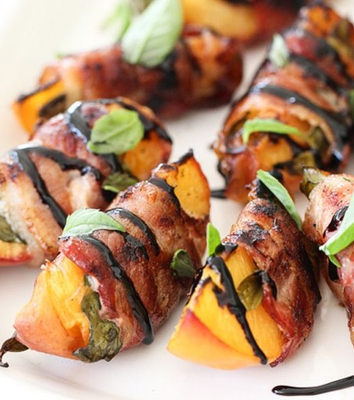 Bacon-Wrapped Peaches