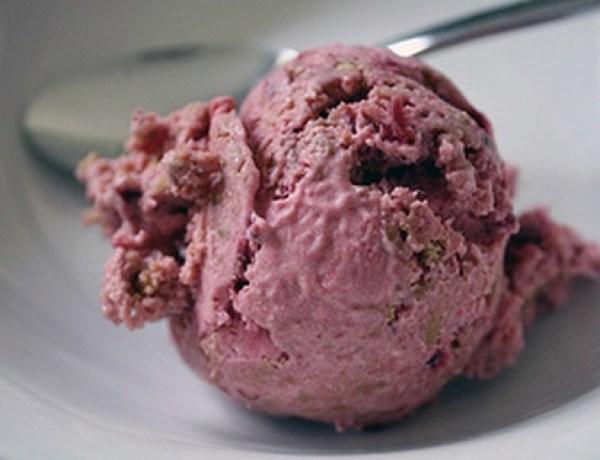 Rhubarb Crumble No Churn Ice Cream