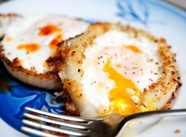 Egg Filled Onion Rings