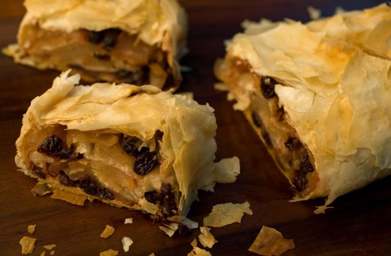 Cinnamon, Raisin and Apple Strudel