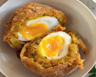 Bombay Potato Scotch Eggs