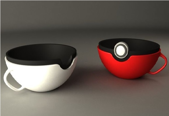 Pokeball Tea Cups