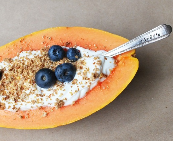Papaya Yogurt Breakfast Boats