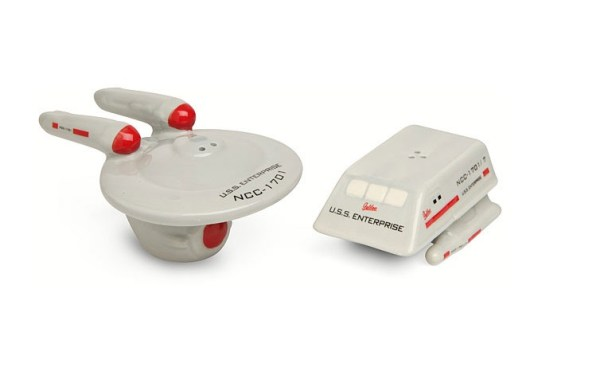 Star Trek Enterprise & Shuttle Salt & Pepper Shakers