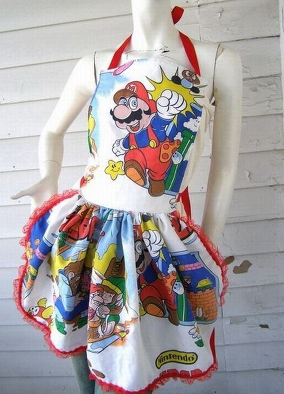 Super Mario Bros Kitchen Apron