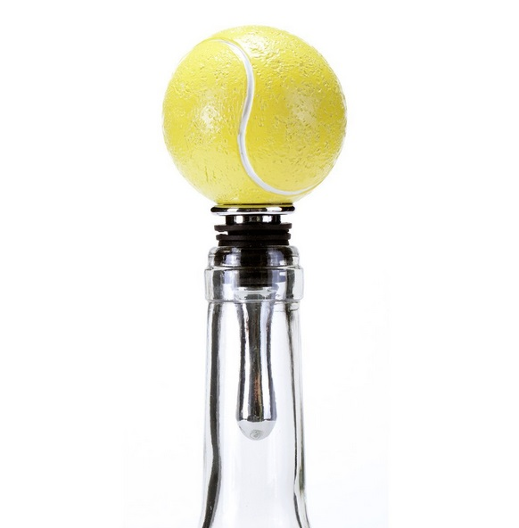 Tennis Ball Bottle Stopper