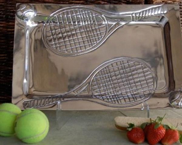Aluminum Tennis Serving Tray