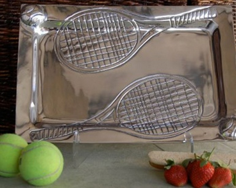 Aluminum Tennis Serving Tray
