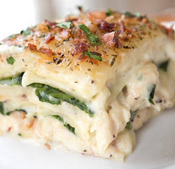 Low Fat Spinach & Chicken Lasagna
