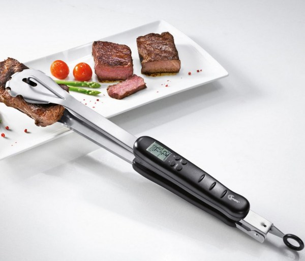Built-in Thermometer BBQ Tongs