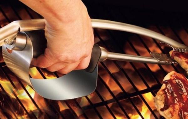 Heat Shield BBQ Tongs