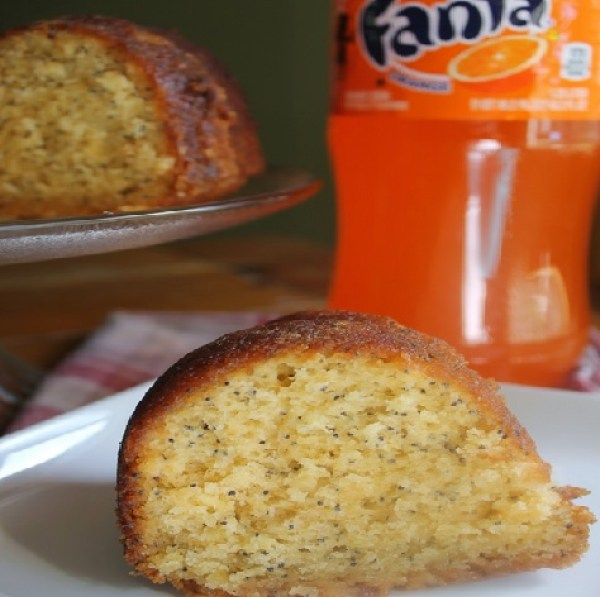 Fanta Orange & Poppy Seed Bundt Cake