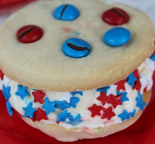 Independence Day Ice Cream Sandwiches