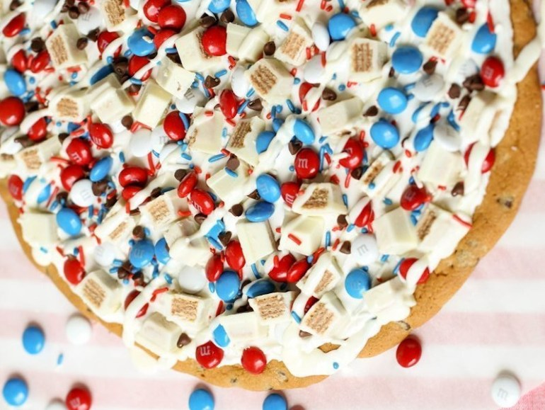 Independence Day Cookie Dessert Pizza