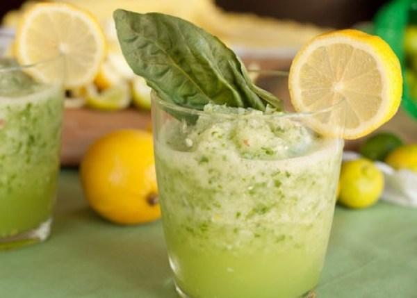 Basil Lemon Limeade Slushy
