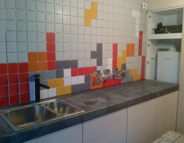 Tetris Kitchen Splashback