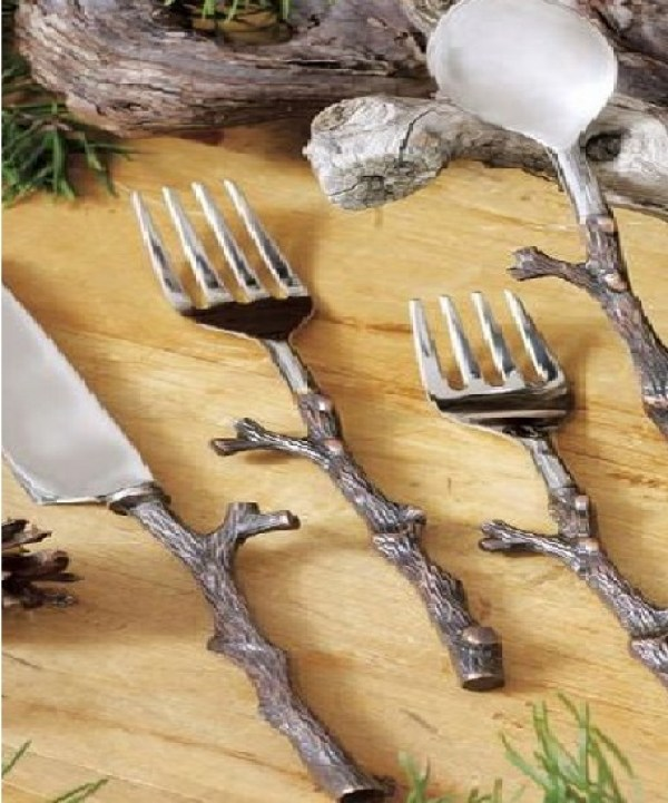 Copper Twig Cutlery Set