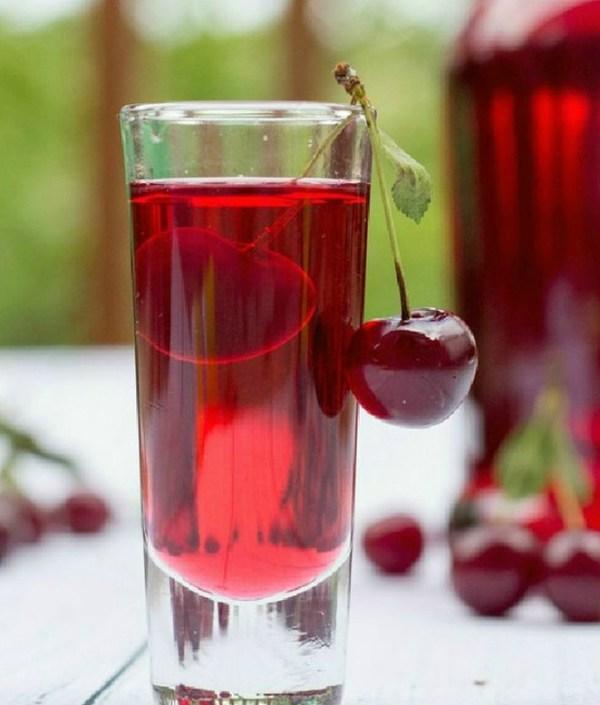 Homemade Sour Cherry Liqueur