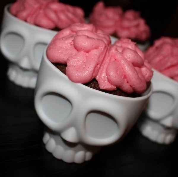 Skull Shaped Silicone Cupcake Molds