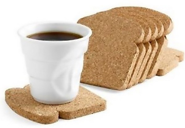 Cork Toast Drink Coasters