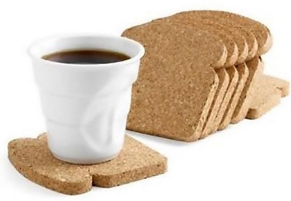 Cork Toast Drink Coasters
