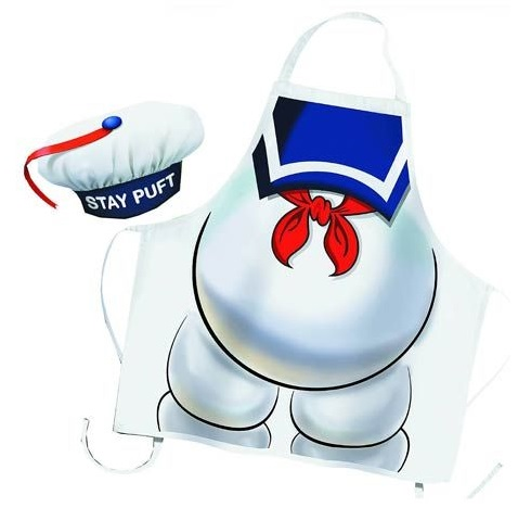 Ghostbusters: Stay Puft Apron and Hat