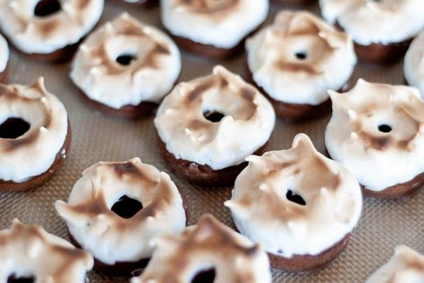 Toast Marshmallow Chocolate Donuts