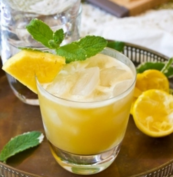 Pineapple & Mint Whiskey Sour Recipe