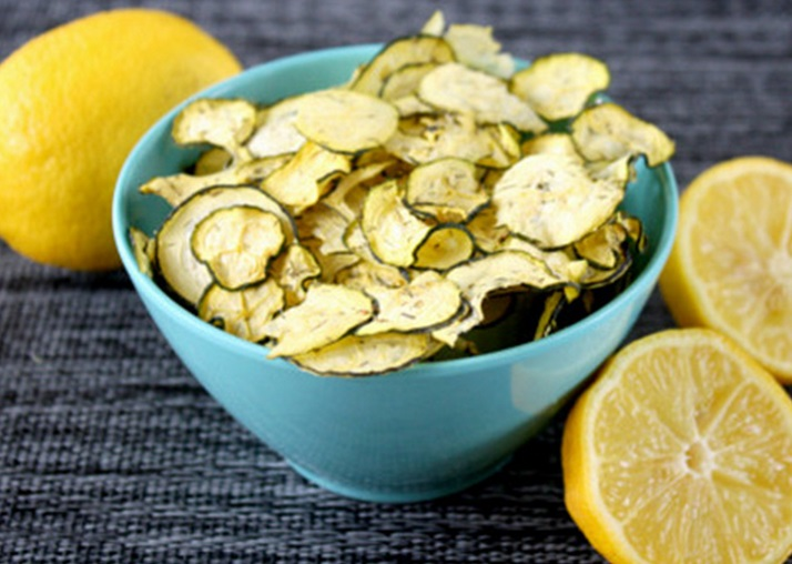 Homemade Lemon Dill Zucchini Crisps