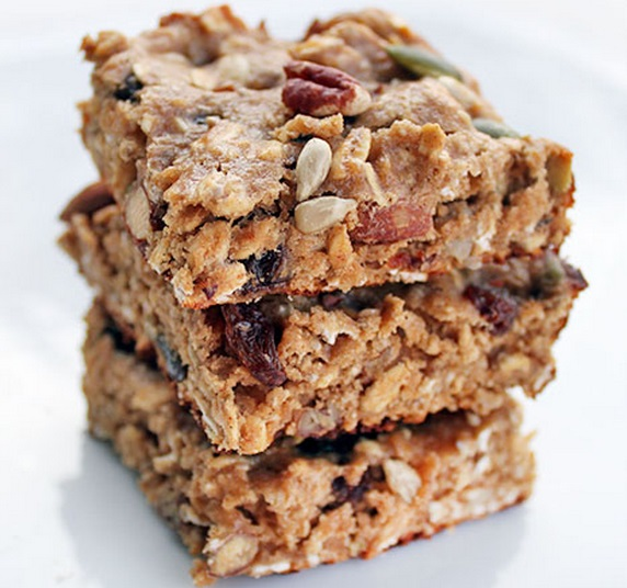 Trail Mix And Coconut Flapjacks