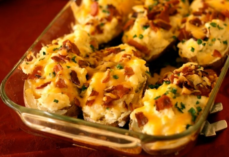 Cheese and Bacon Twice Baked Potatoes
