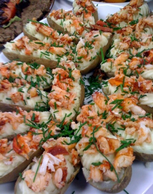 Lobster & Cheese Twice Baked Potatoes