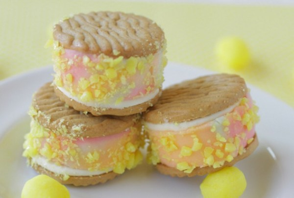 Lemon Drop Ice Cream Sandwiches