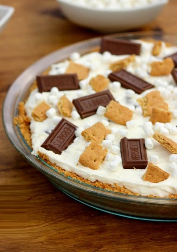 No Bake S'mores Cheesecake Pie