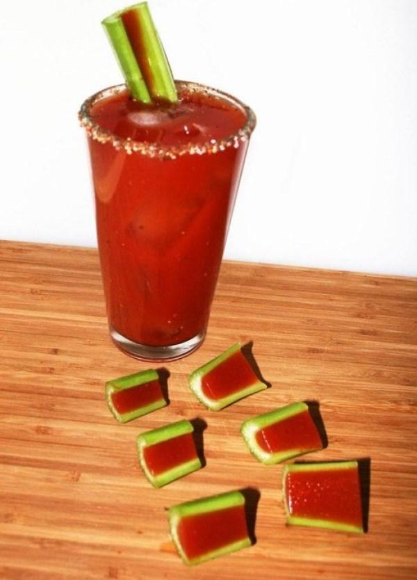 Bloody Mary Jello Shots