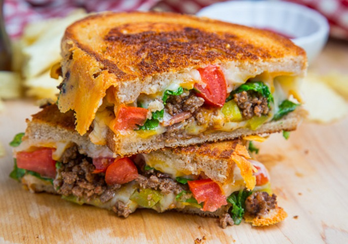 Cheeseburger Grilled Sandwich