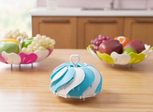 Telescopic Flower Petal Fruit Bowl