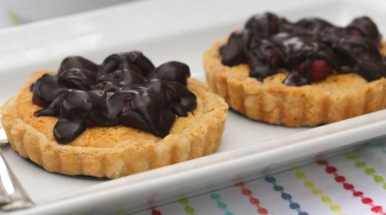 Chocolate Covered Cherry & Almond Tarts