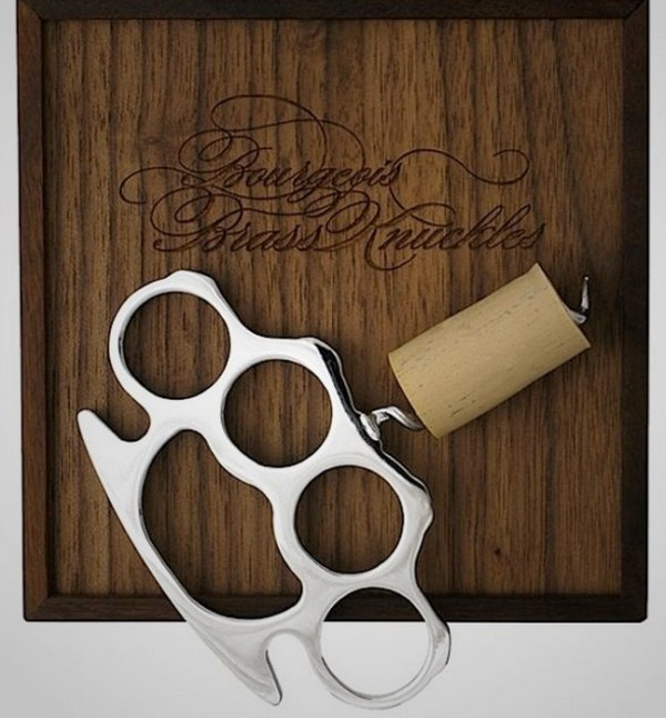 Brass Knuckles Corkscrew