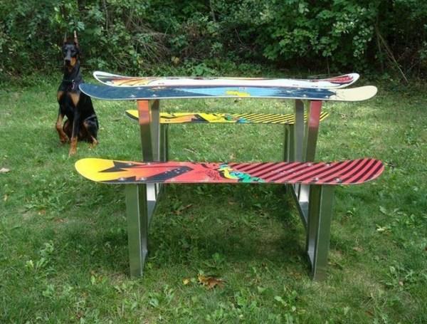 Snowboard Picnic Table