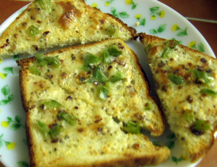 Garlic Chilli Cheese on Toast