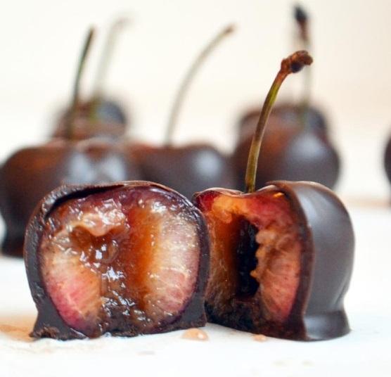 Brandied Cherries Dipped In Chocoalte
