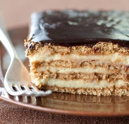 No-Bake Boston Cream Pie Strata