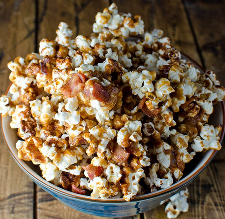 Homemade Bacon Bourbon Caramel Popcorn