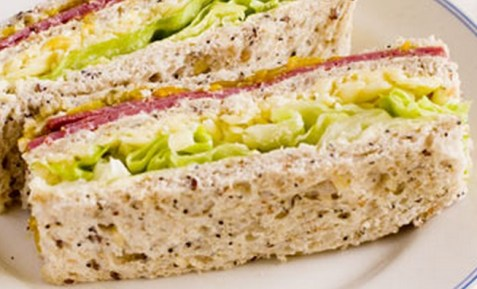 Pastrami Club Sandwich
