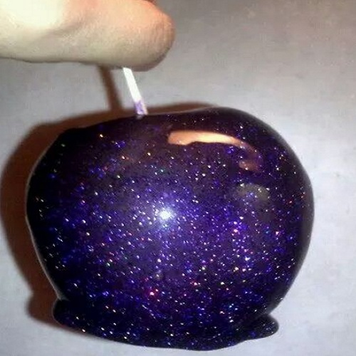 Cosmic Glitter Candy Apples