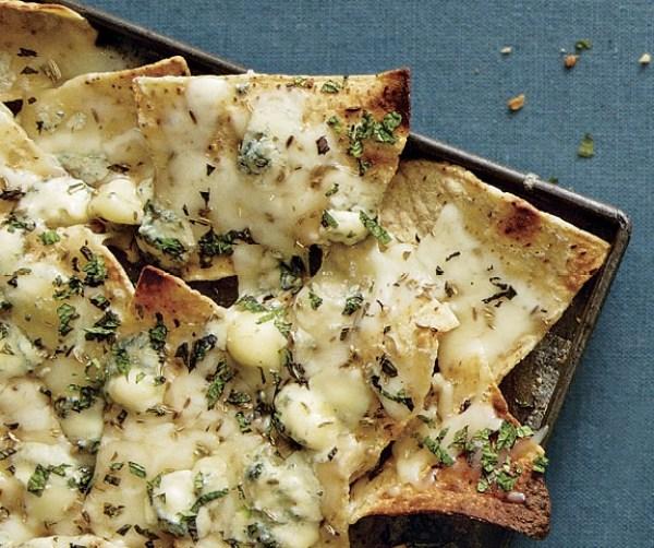 Homemade Gorgonzola and Fontina Nachos
