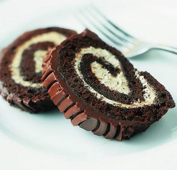 Bittersweet Chocolate Roulade